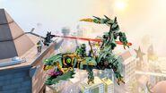 70612 Green Ninja Mech Dragon Poster