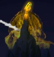 Rising goldem dragon