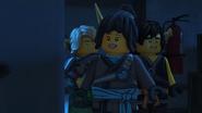 Three ninja walking in