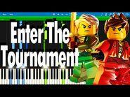 LEGO NINJAGO - Enter the Tournament by The Fold - Synthesia Piano Tutorial
