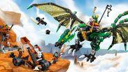 70593 Green NRG Dragon Poster