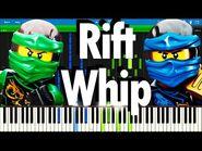 LEGO NINJAGO - The Rift Whip by The Fold - Synthesia Piano Tutorial