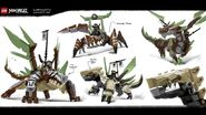 Ninjago Hunted - Cole's Armored Earth Dragon (Concept Art)