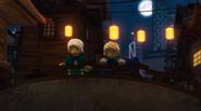 EP76 Harumi and Lloyd on a bridge