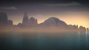 Остров Чена утром
