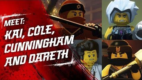 Meet Kai, Luke Cunningham, Dareth and Cole - LEGO NINJAGO - Character Video