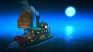 Паром плывет к Острову