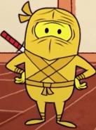 Cartoony Golden Ninja