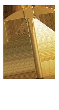 Golden Pick Axe
