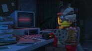 The Mechanic talking to Unagami