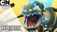Ninjago Escaping the Blue Dragon in the Desert Cartoon Network