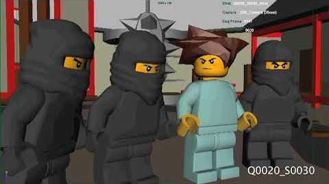 Ninjago pilot 2011 - early 3d blocking