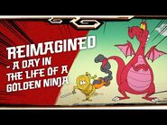 NINJAGO LEGACY shorts - Reimagined - A Day in the Life of a Golden Ninja