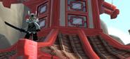 Самурай на крыше