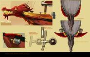 Ninjago Destiny's Bounty Front Concept Art