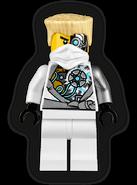 Battle Damaged Zane Minifigure