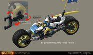 Ninjago Sons of Garmadon - Zane's Bike Concept Art