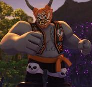 Killow wearing mask