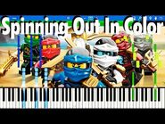 LEGO NINJAGO - Spinning Out In Color by The Fold - Synthesia Piano Tutorial
