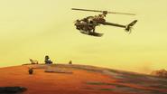 Hunter Copter lands