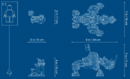 71719 Zane's Mino Creature Dimensions