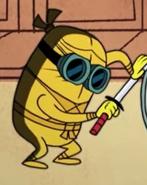 Golden ninja goggles