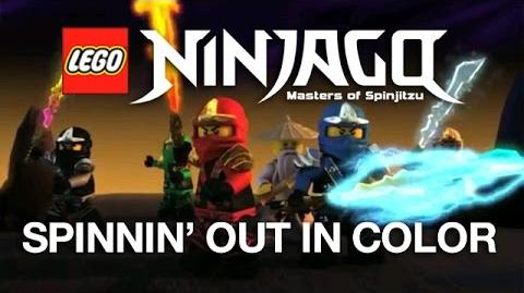 """LEGO NINJAGO """"Spinning Out In Color"""" Official Video by The Fold-0"""