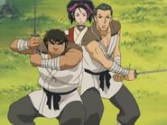 Taroza and Jiroza protecting Shigure