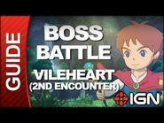 Ni No Kuni- Wrath of the White Witch - Boss Battle Strategy- Vileheart (Second Encounter)