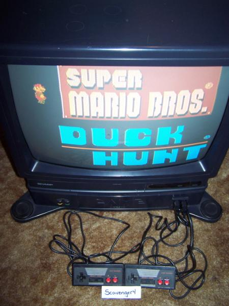 Television With Built-In NES