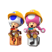 Super Mario Maker 2 - Toad & Toadette playing artwork