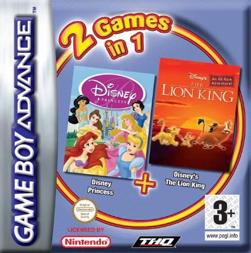 2 Games In 1: Disney Princess + Disney's The Lion King