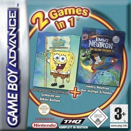 2 Games in 1: SpongeBob SquarePants: Battle for Bikini Bottom / Jimmy Neutron Boy Genius