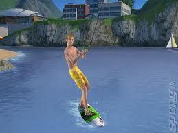 Wii sims 3 (ski boarding)