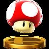 Super Mushroom's Trophy from Super Smash Bros. for Wii U