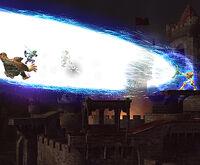 Image of Samus Aran using Zero Laser in Super Smash Bros. Brawl.