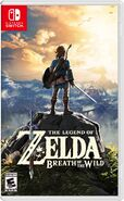 The Legend of Zelda Breath of the Wild Switch Boxart