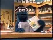 Cookie Monster baking cookies - 1