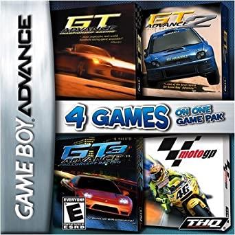 4 Games on One Game Pak: GT Advance / GT Advance 2 / GT Advance 3 / MotoGP