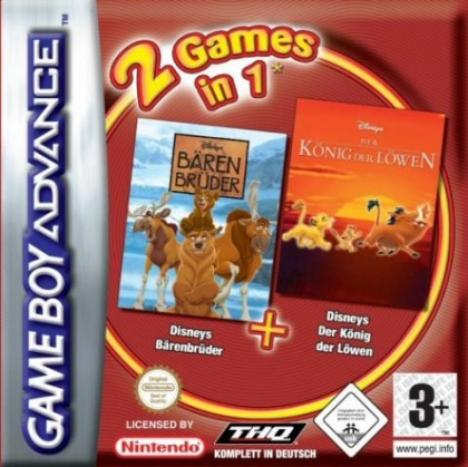 2 Games in 1: Brother Bear + The Lion King