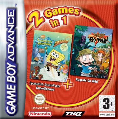 2 Games In 1: SpongeBob SquarePants: SuperSponge / Rugrats Go Wild