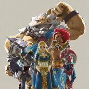 Zelda and The Champions Artwork