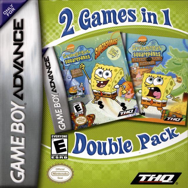2 Games In 1 Double Pack - SpongeBob SquarePants: SuperSponge / SpongeBob SquarePants: Revenge of the Flying Dutchman - Box Scan