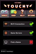 Nitrome Touchy connection screen