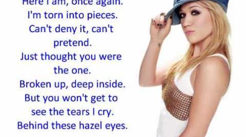Kelly Clarkson - Behind These Hazel Eyes (LYRICS)