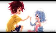 Sora y Shiro, prometiendo estar juntos