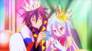 Shiro et sora en habits royals