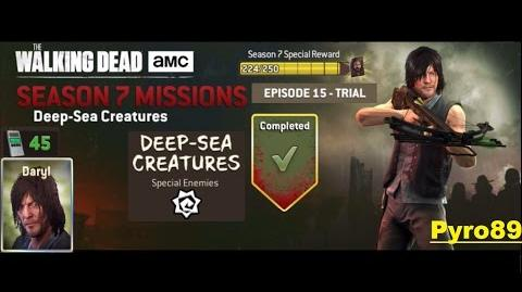 The walking dead no man's land (S07 Episode 15 Trial 5-5 Deep-Sea Creatures ) + Daryl's spins
