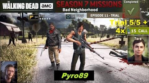 The walking dead no man's land (S07 Episode 11 Trial 5 5 - Bad Neighborhood) + 4 spins