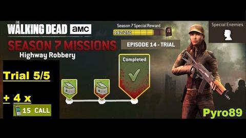 The walking dead no man's land (S07 Episode 14 - Highway Robbery) Trial 5 5 + 4 spins